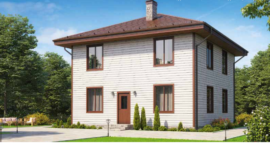 Дом двухэтажный – 133 м2 Стоимость – 2 660 000р.
