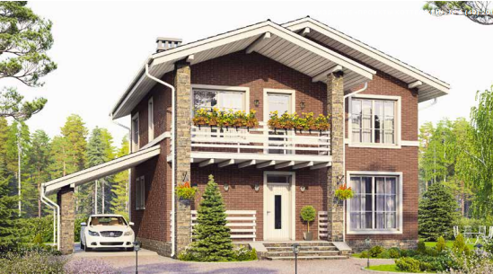 Дом двухэтажный – 148 м2 Стоимость – 3 256 000р.