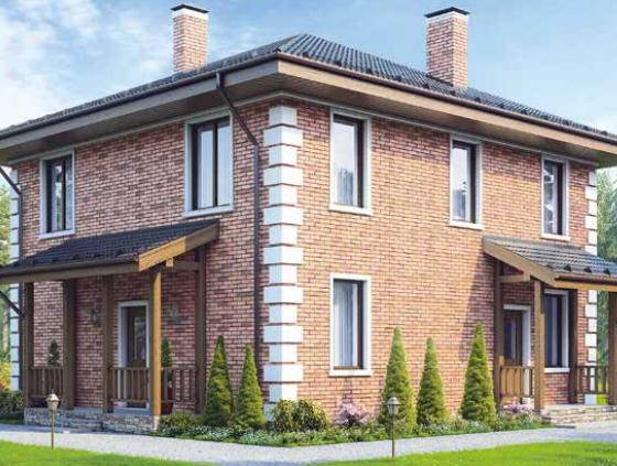 Дом двухэтажный- 127м2  Cтоимость – 1 905 000р.