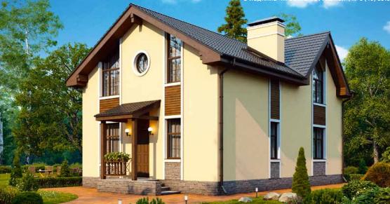 Дом двухэтажный – 143 м2 Стоимость – 2 145 000р.