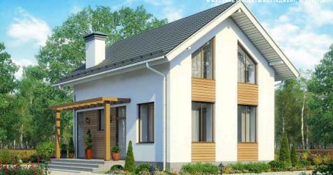 Дом одноэтажный мансардного типа – 88 м2 Стоимость – 1 320 000р.