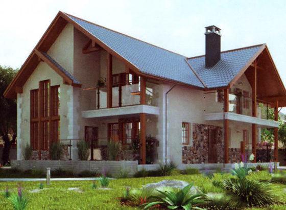 Дом двухэтажный – 209,93 м2. Стоимость – 4 198 600 р.