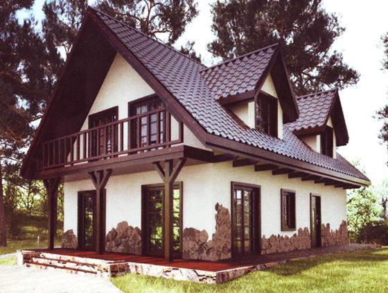 Дом двухэтажный – 151,56 м2. Стоимость – 3 031 000 р.